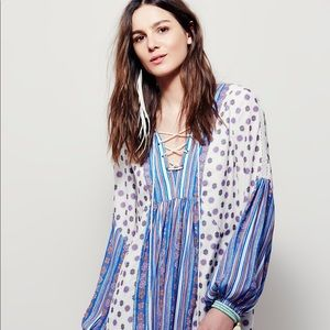 Free People lace-up front dress
